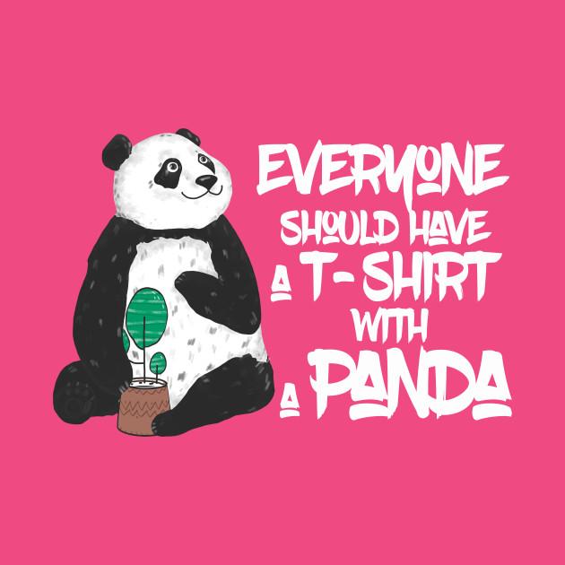 Cute Panda T-Shirt For Panda Lovers