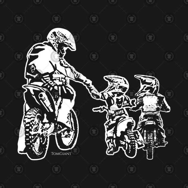 7de682ef ... Motorcycle Motocross Biker Dad And Kids Dirt Bike Riders Gift