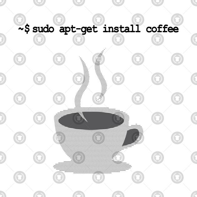 sudo apt-get install coffee Funny Linux Command