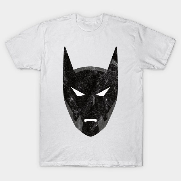 Batman Beyond Distressed Grunge Portrait T-Shirt-TOZ
