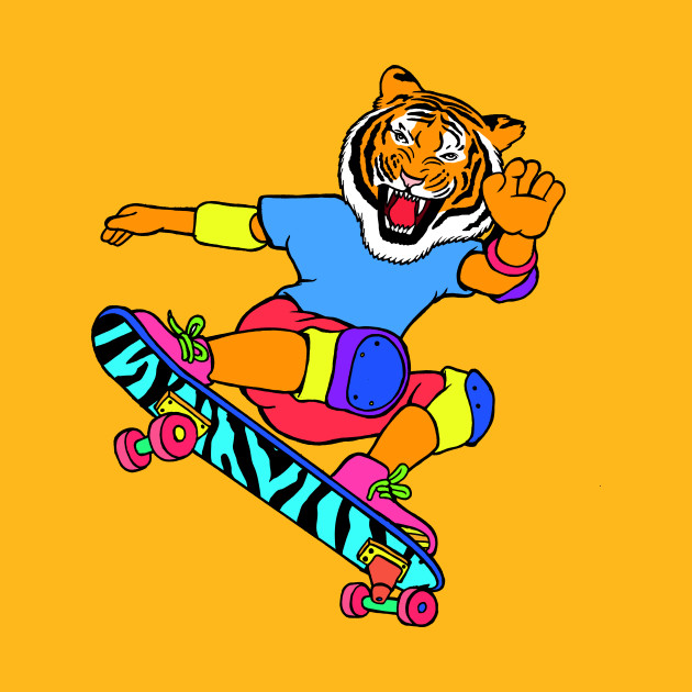 Skate Tiger - Skateboarding - T-Shirt | TeePublic