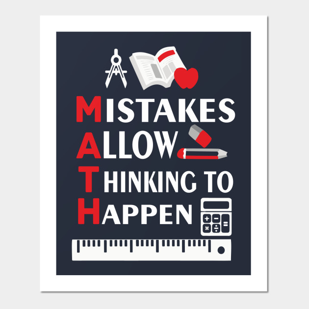 MATH Mistakes Allow Thinking To Happen Shirt Mathematics School ...