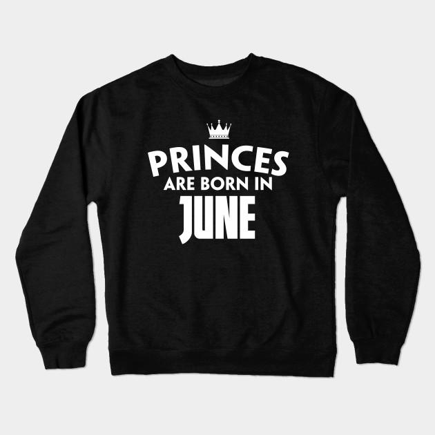 June T Shirts Birthday For Girl Women Crewneck Sweatshirt