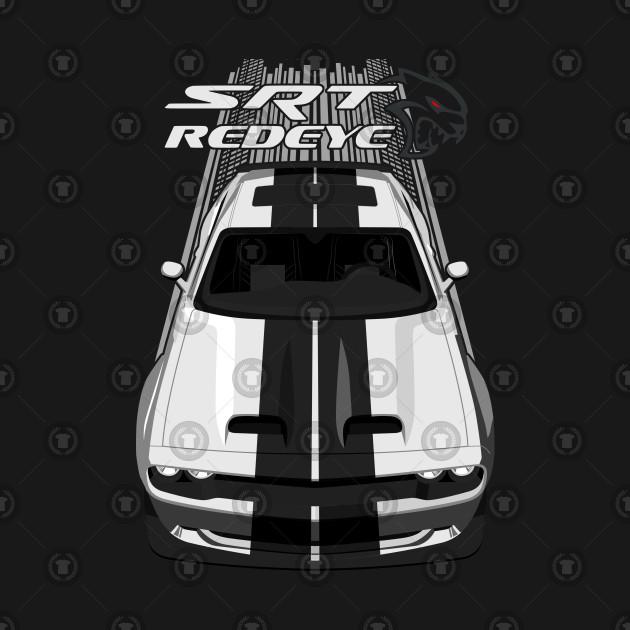 Challenger Hellcat Redeye - White and Black Stripes