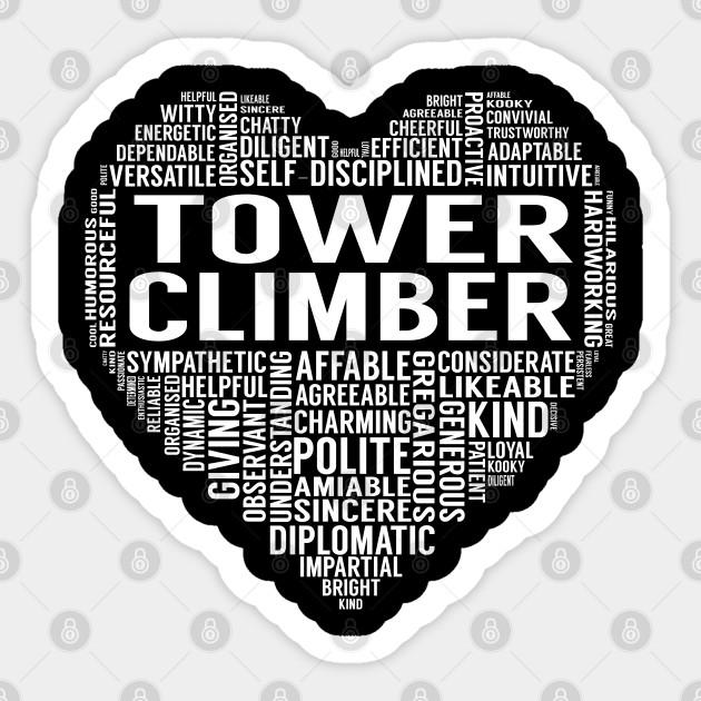 Tower Climber Heart Tower Climber Sticker Teepublic Uk