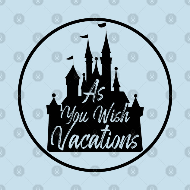As You Wish Vacations Castle Black Logo