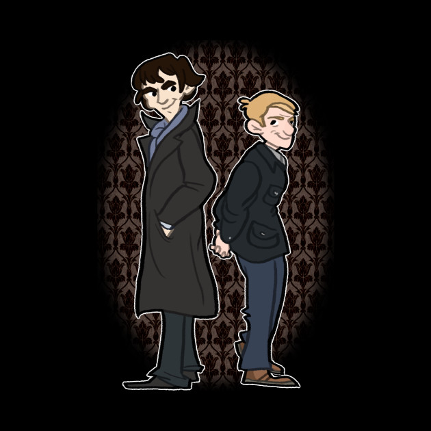 Sherlock And Watson Wallpaper Phone Case Teepublic