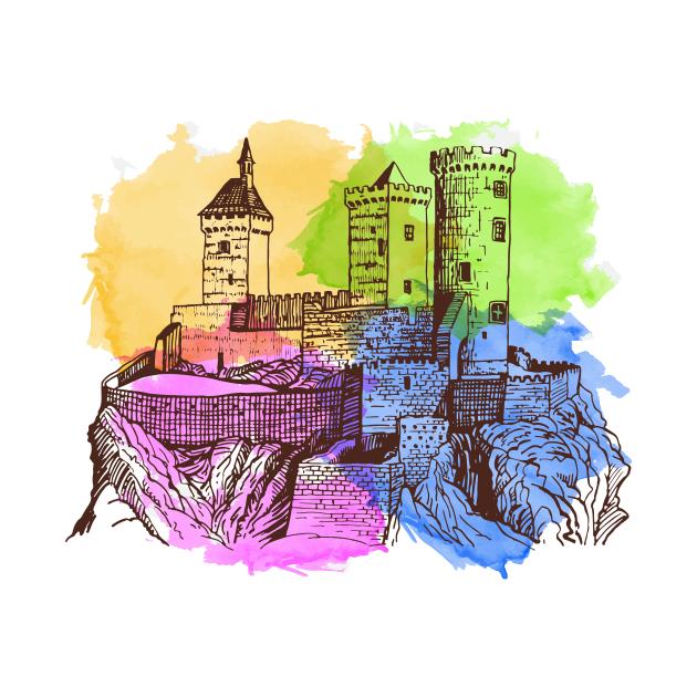 Castle Gift Shirt, Castle mountain Shirt, Old Castle