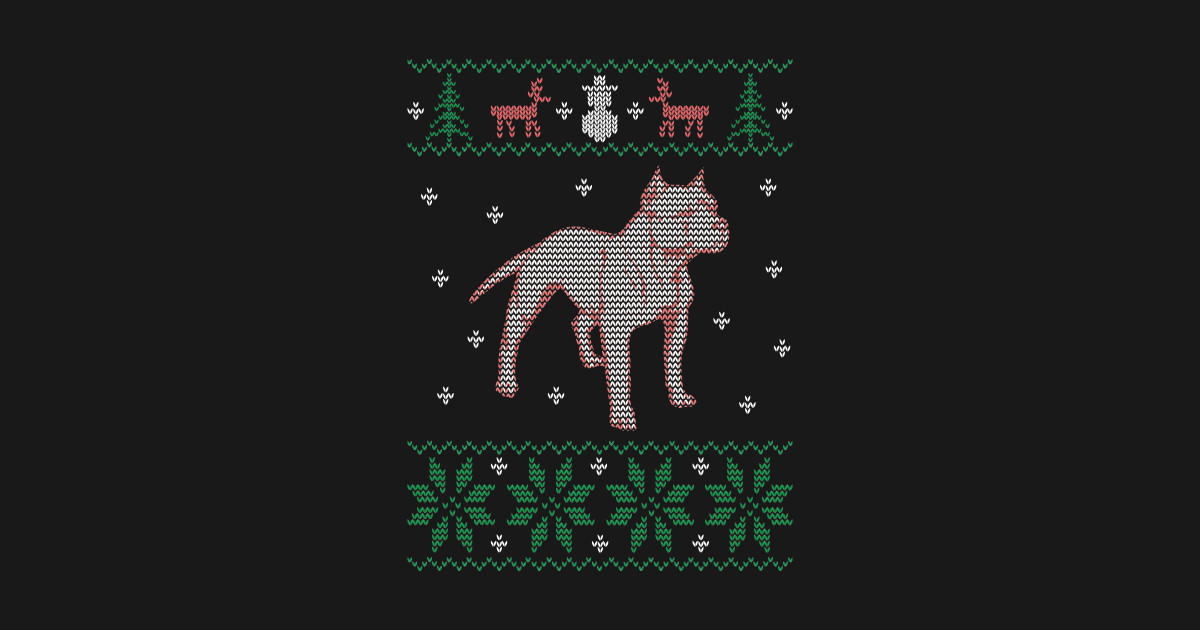 Pitbull Ugly Sweater Christmas - Pitbull Sweater Christmas Stockings ...