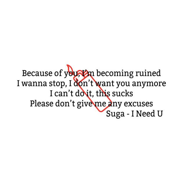 BTS English Lyrics Suga I Need U