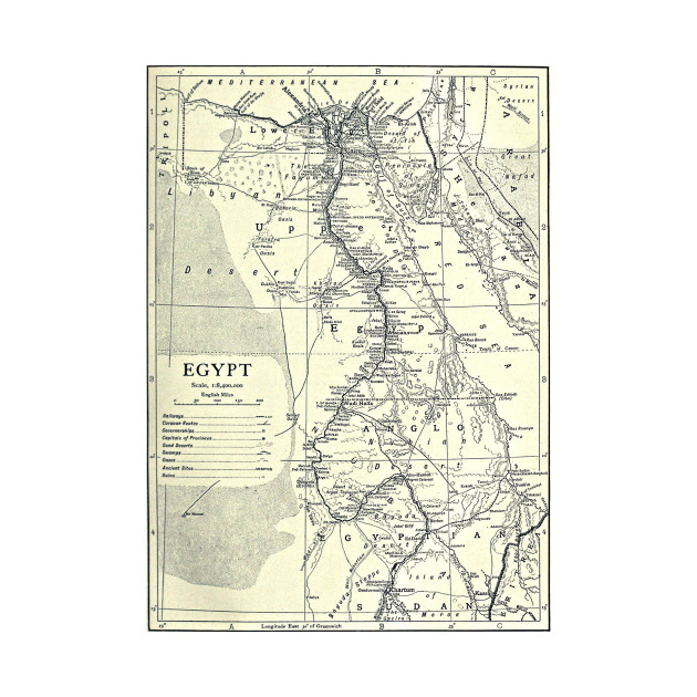 Vintage Map Of Egypt 1911 Egypt Map Kids T Shirt Teepublic