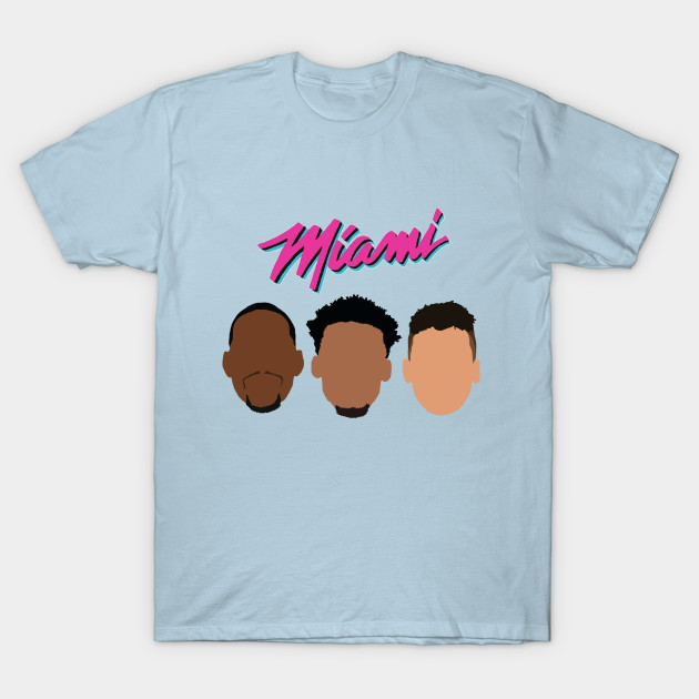 Miami Heat Jimmy Butler Tyler Herro And Bam Adebayo Miami Vice Design Miami Heat T Shirt Teepublic