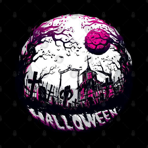Halloween dark night illustration