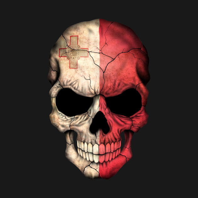 Maltese Flag Skull