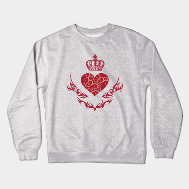 King Of Heart King Of Hearts Crewneck Sweatshirt Teepublic