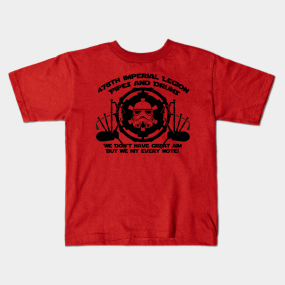478th Imperial Legion Pipes and Drums kids-t-shirt