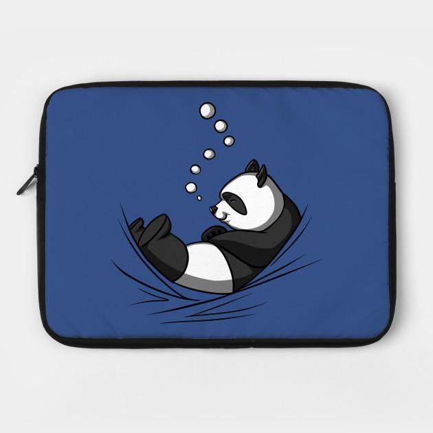Cute Panda Bear Funny Sleeping Lazy Baby Cartoon