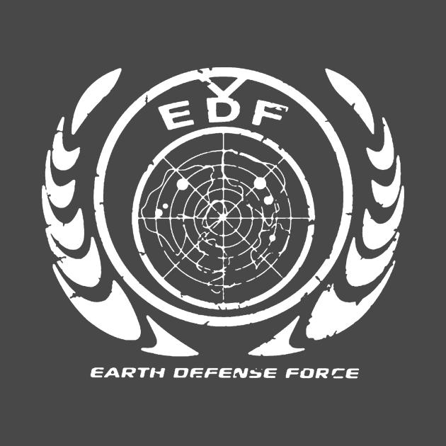 Earth Defense Force Logo - White
