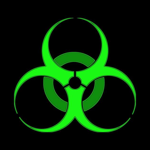Green Biohazard Symbol - Biohazard Symbol - Tote | TeePublic