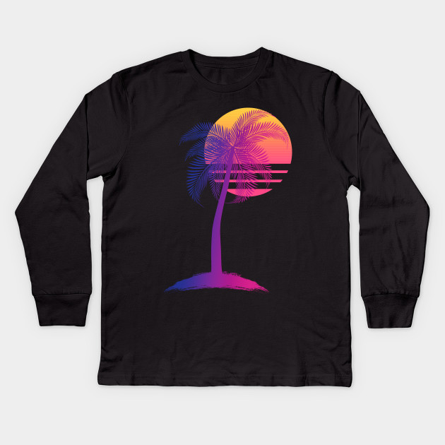 a28952f68 Sunset Dreams - 80s - Kids Long Sleeve T-Shirt | TeePublic