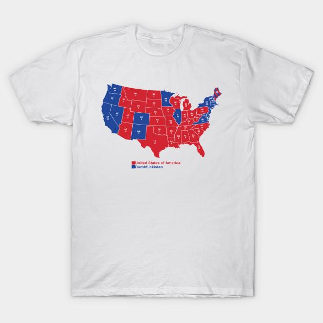 USA Dumbfuckistan  Edition Democrat TShirt TeePublic - Tee shirt us map dumbfuckistan