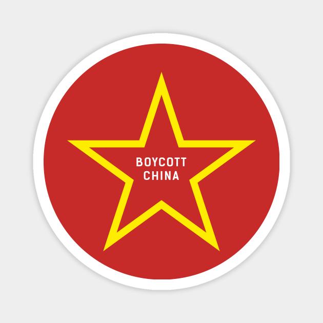 Boycott China - Boycott China - Magnet | TeePublic