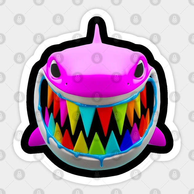 Gooba Shark 6ix9ine Sticker Teepublic Au