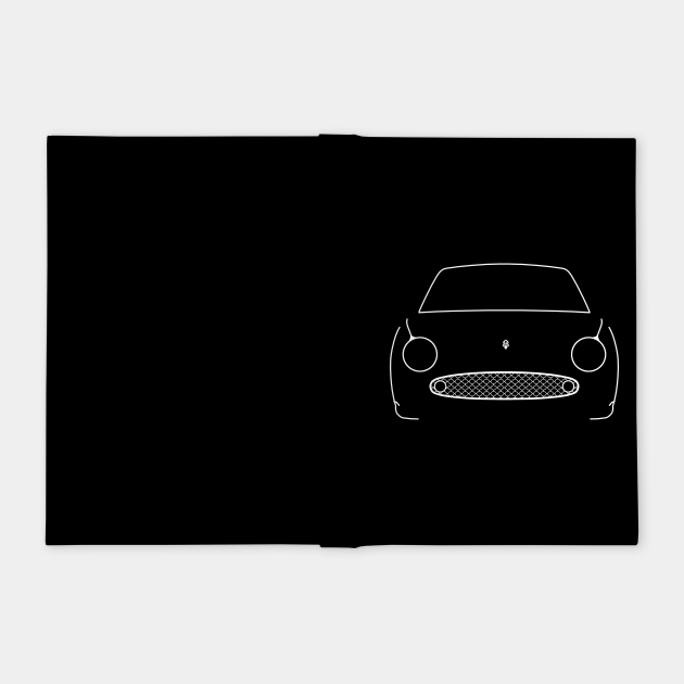 Nissan Figaro classic car white outline graphic