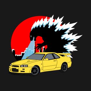 Nissan Skyline Gtr R34 T-Shirts | TeePublic