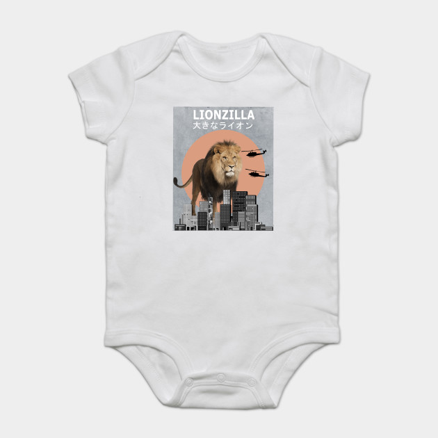 25038d3ed52 Lionzilla Lion Funny Animal T-Shirt Lover Gift - Lion - Onesie ...