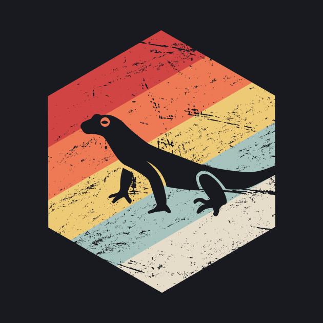 Retro Vintage Lizard Salamander Icon