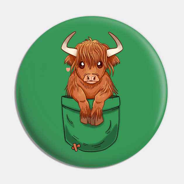 Pocket Cute Scottish Highland Cow