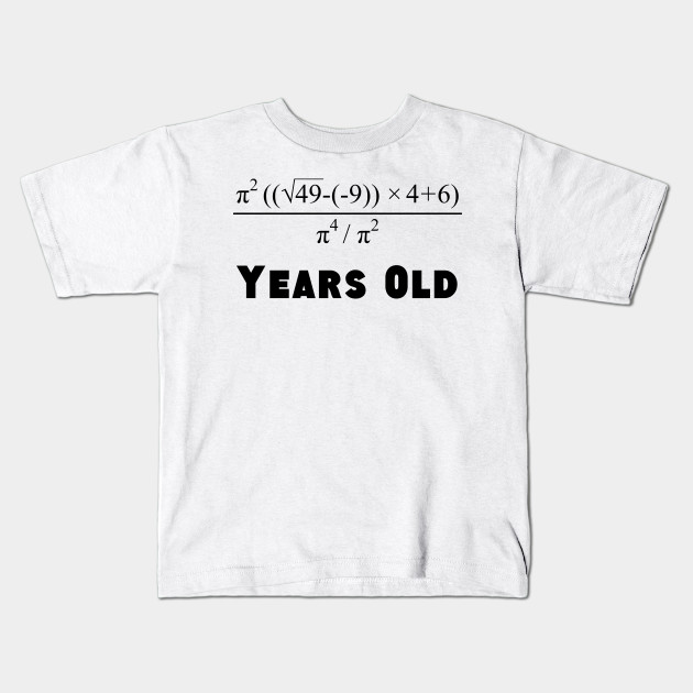 cb1a75a9 Algebra Equation 70th Birthday - Birthday - Kids T-Shirt | TeePublic
