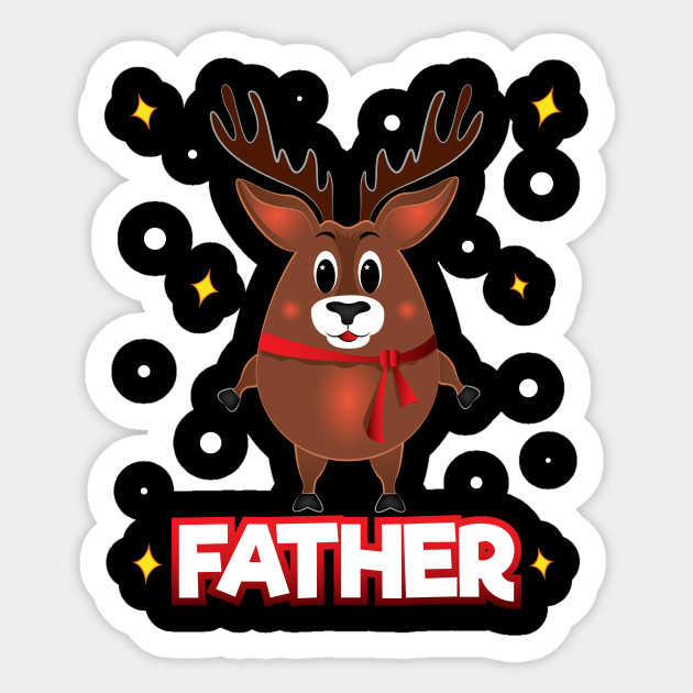 Christmas Reindeer.Christmas Reindeer Squad Dad Matching Family Deer Father