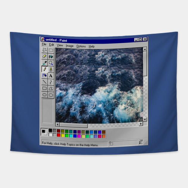 Vaporwave Microsoft paint