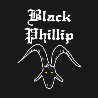 BLACK PHILLIP t-shirts