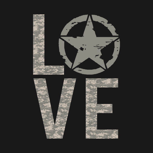US Army Love Star Tshirt