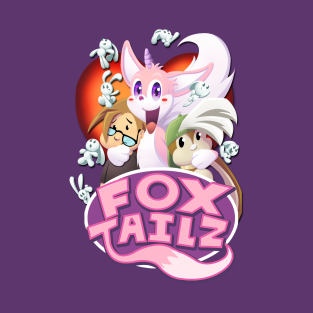 Gizmo and Bunny in Fox Tailz t-shirts