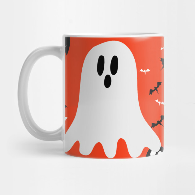 Orange Happy Halloween - Li'l Ghost Mug