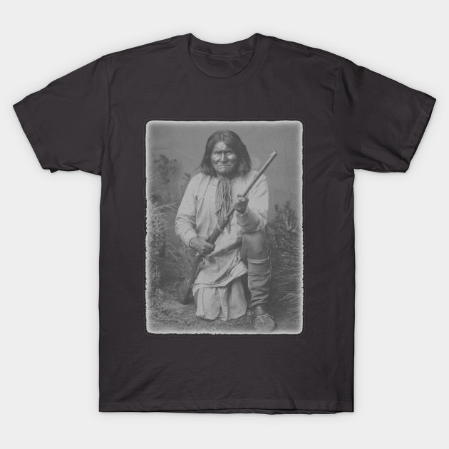Geronimo apache native american indian warrior hero for Superhero t shirts india