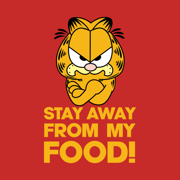 Garfield Angry about Food