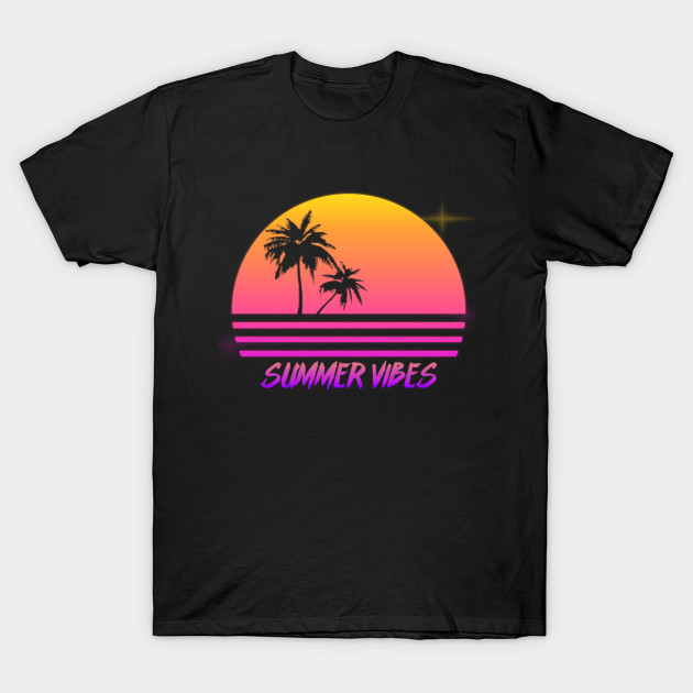 52a6c80777b9 Summer Vibes - Retro Synth Sunset Style - Summer - T-Shirt