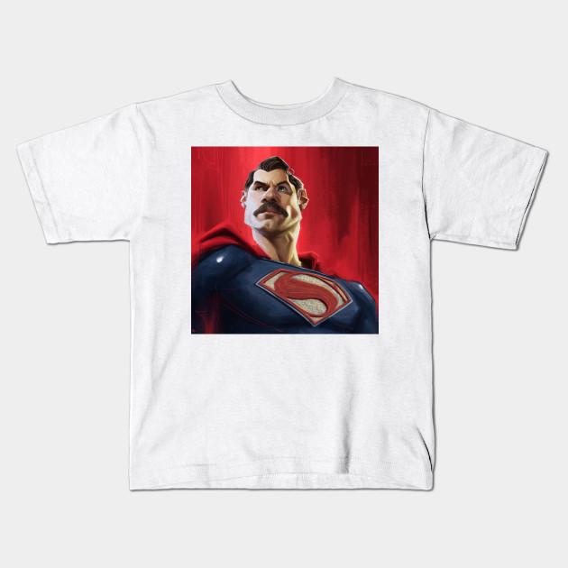 06a42d20 Man of Steel with stach! - Superman - Kids T-Shirt | TeePublic