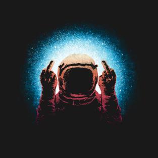 Negative Spaceman t-shirts
