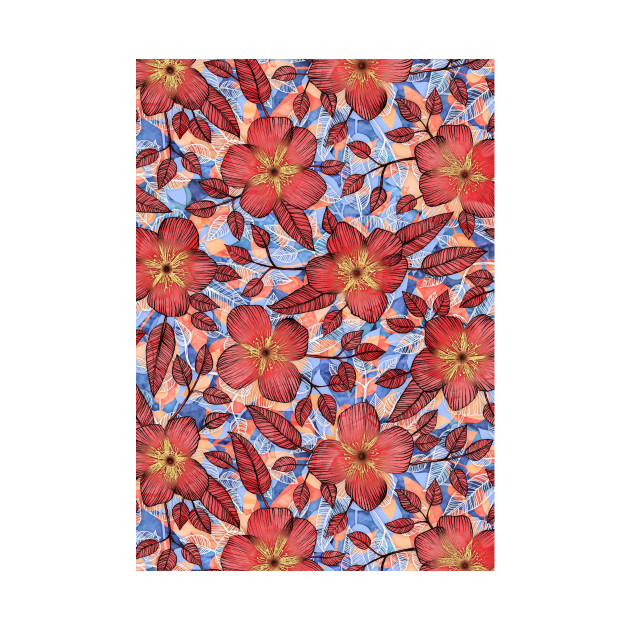 Coral Summer - a hand drawn floral pattern