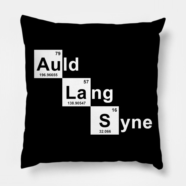 New Year Chemical Symbol New Year Pillow Teepublic