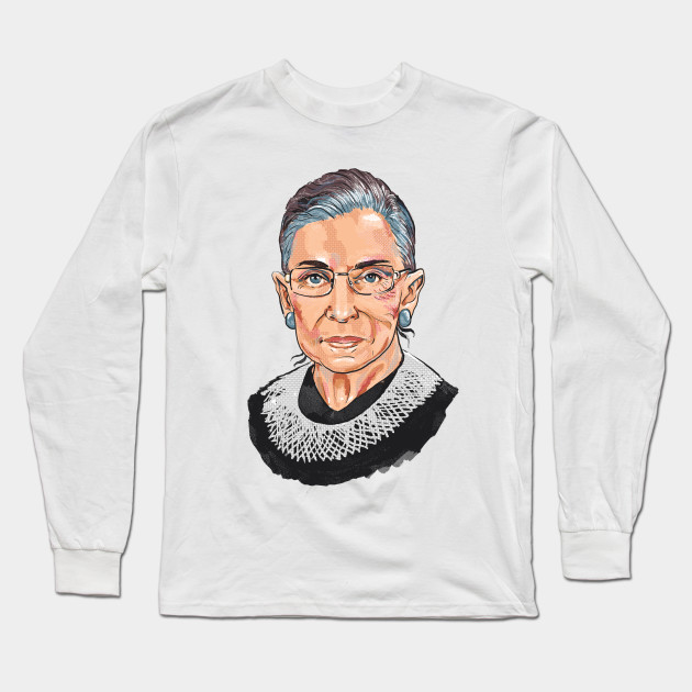 5e3c0277f465 Supreme Court Justice Ruth Bader Ginsburg - Woman - Long Sleeve T ...