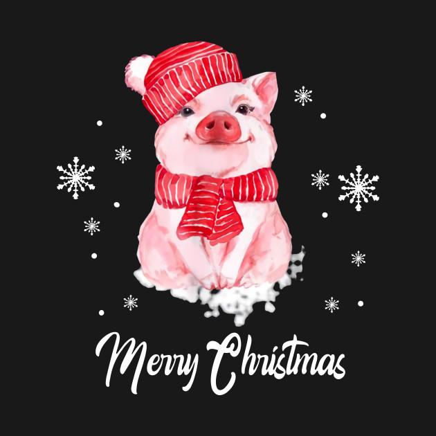 Christmas Pig.Merry Christmas Cute Pig Christmas Tshirt Funny Xmas Gifts