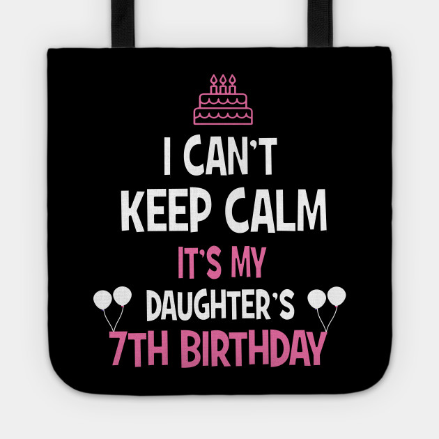 7th Birthday Girl Boy T Shirt 7 Years Old Party Gift Tote