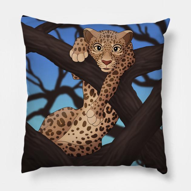 Kissenrolle Leopard
